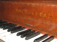 The piano prior to deconstruction